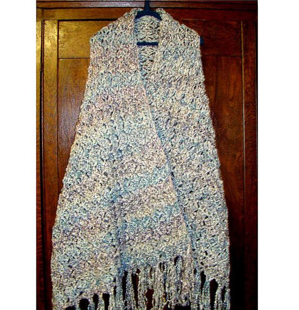 Soft Comfy Prayer Shawl Crochet Pattern Uses Homespun Yarn