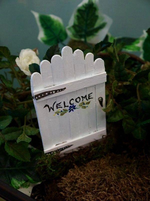 GARDEN GATE  Fee Gartentüren einfache Handwerk Stick DIY Handwerk G  ve POPSICLE STICK GARDEN GATE  Fee Gartentüren einfache Handwerk Stick DIY Handwerk G  ve E...