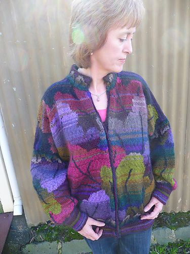 Ravelry: Tapestry Leaf Jacket pattern by Kaffe Fassett | Jacken ...