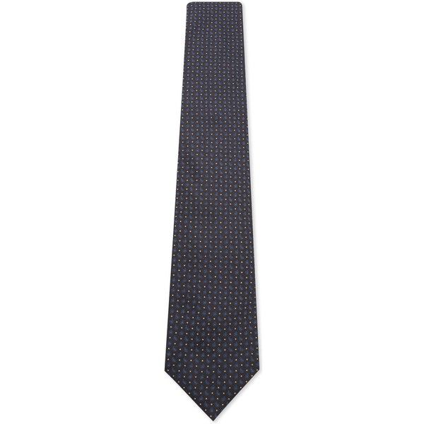 CORNELIANI Dot and micro teardrop pattern silk tie (195,115 KRW) ❤ liked on Polyvore featuring men's fashion, men's accessories, men's neckwear and ties