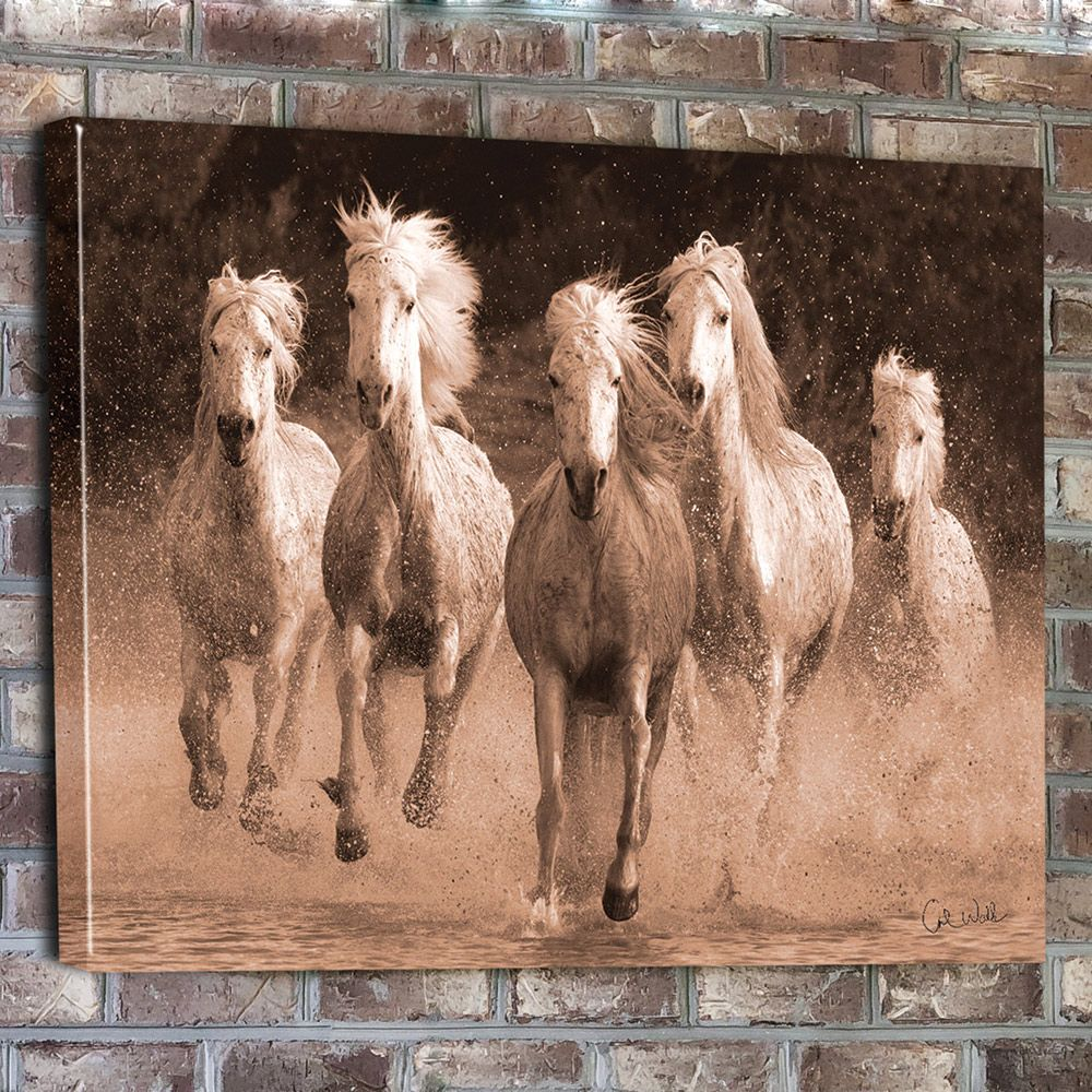 Clearance Wall Art water run horse canvas wall art - clearance | for the home