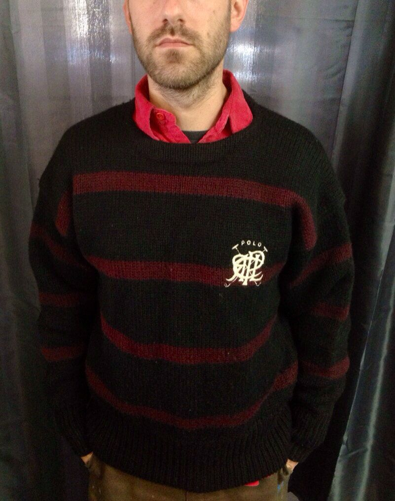 Awesome vintage polo Ralph Lauren wool sweater by