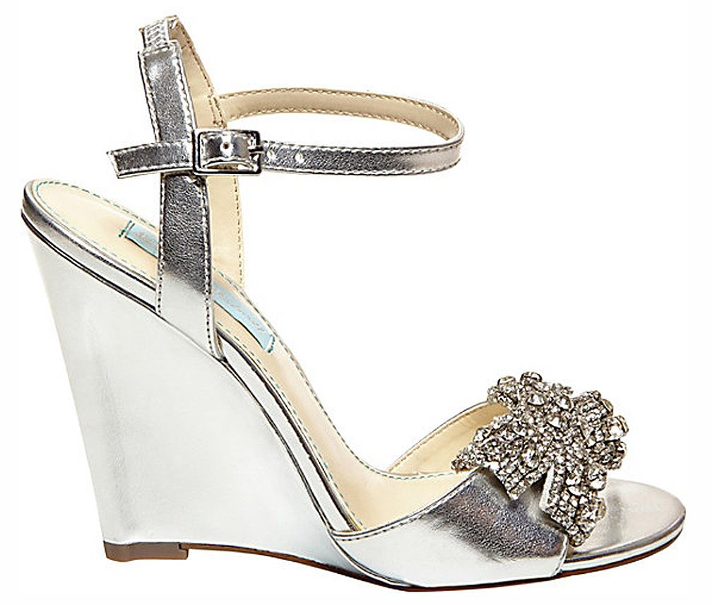 betsey johnson wedding shoes with bow