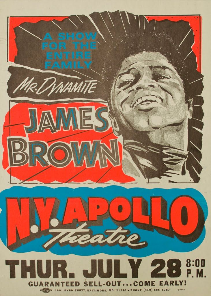 American Hippie Classic Rock Music Poster James Brown