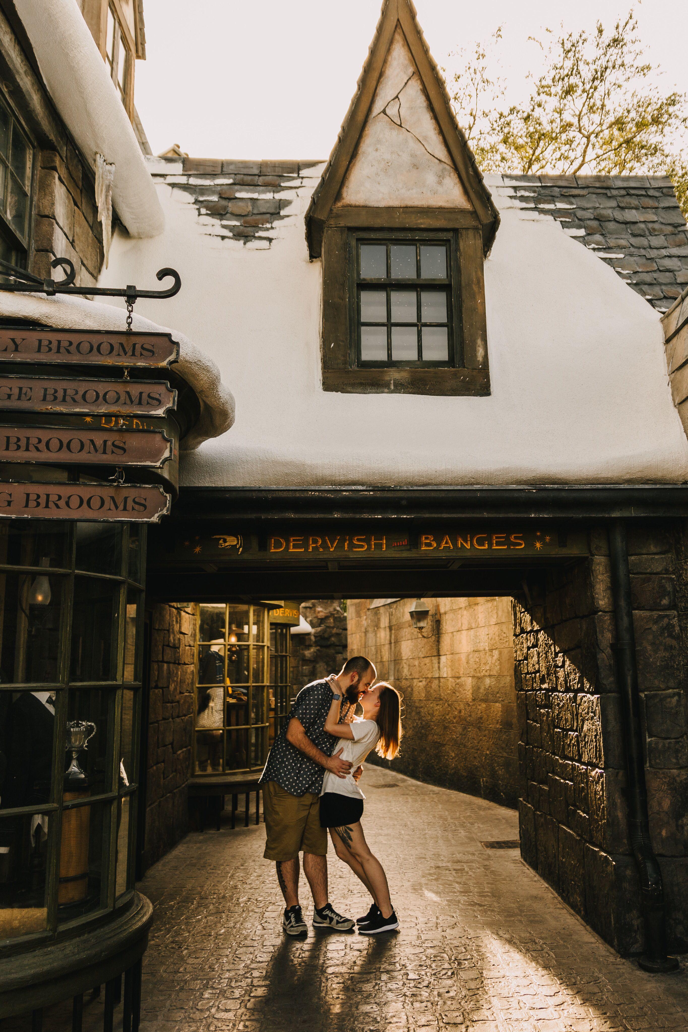 Harry Potter Proposal Engagement Session Universal Studios Orlando Trip Orlando Travel Disneyland Photography