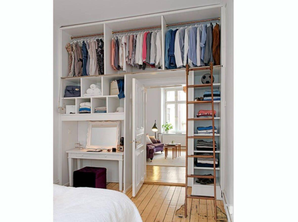 Fabriquer Un Dressing Dans Une Chambre 15 idées de dressing pour un petit appartement   rangement
