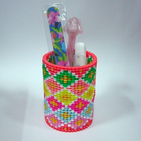 Pencil holder perler beads