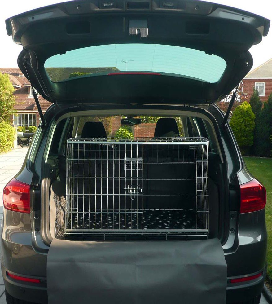 VW VOLKSWAGEN TIGUAN SLOPING CAR DOG CAGE BOOT TRAVEL CRATE PUPPY GUARD | eBay