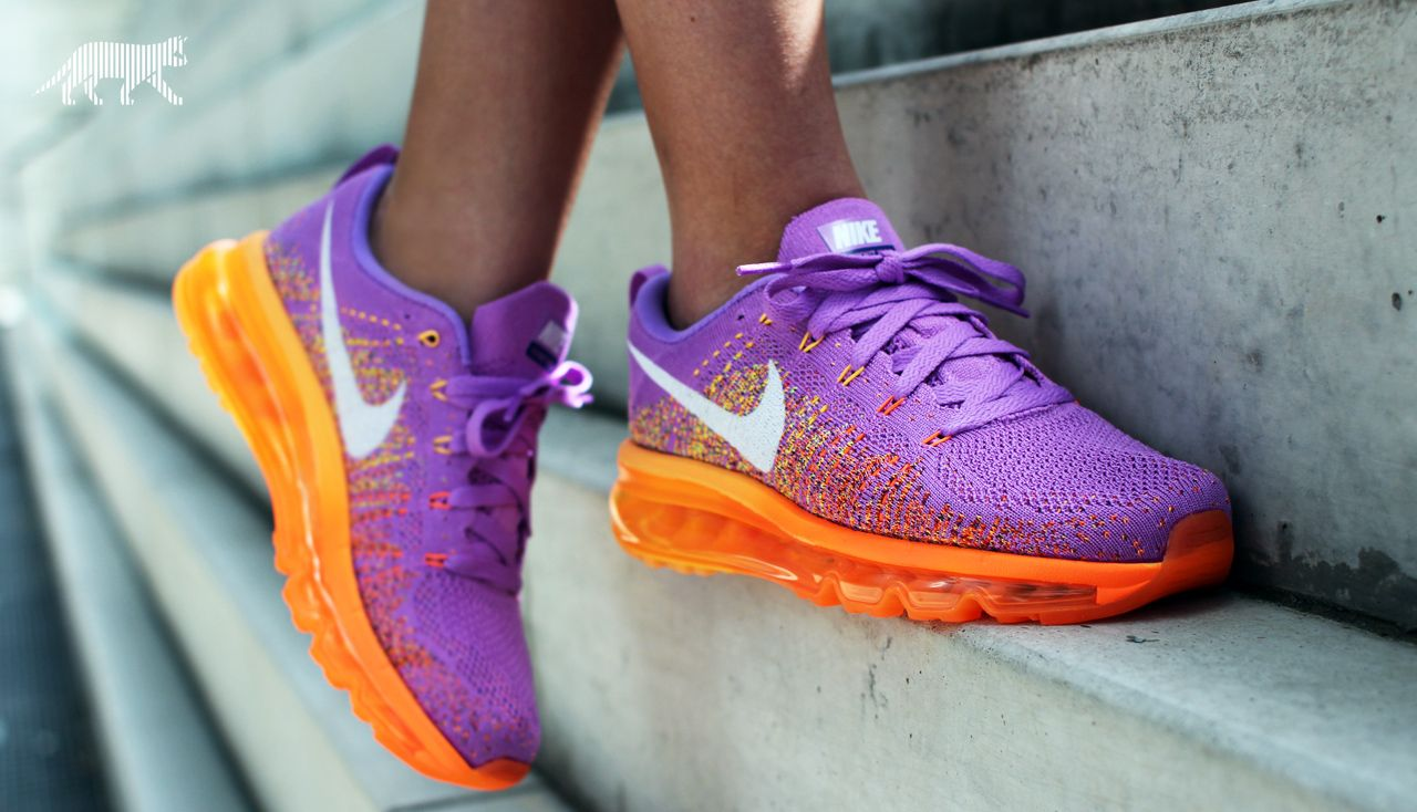check out d1189 3c5cb Nike wmns Flyknit Max (Atomic purple   White - Total Orange)  nike  sneaker   streetwear  flyknit  airmax  fashion