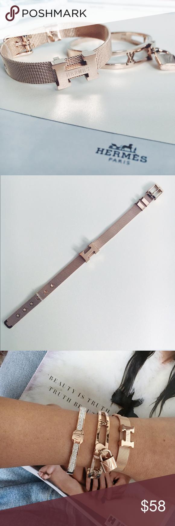 Rose gold h bracelet just in nwt boutique item fashion rose gold h