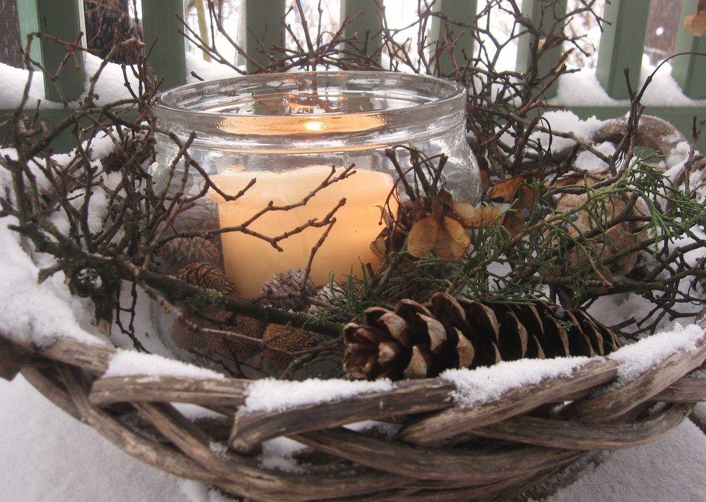 winterdekoration fenster | Winterdekoration - Mein Garten #herbstdekoeingangsbereich