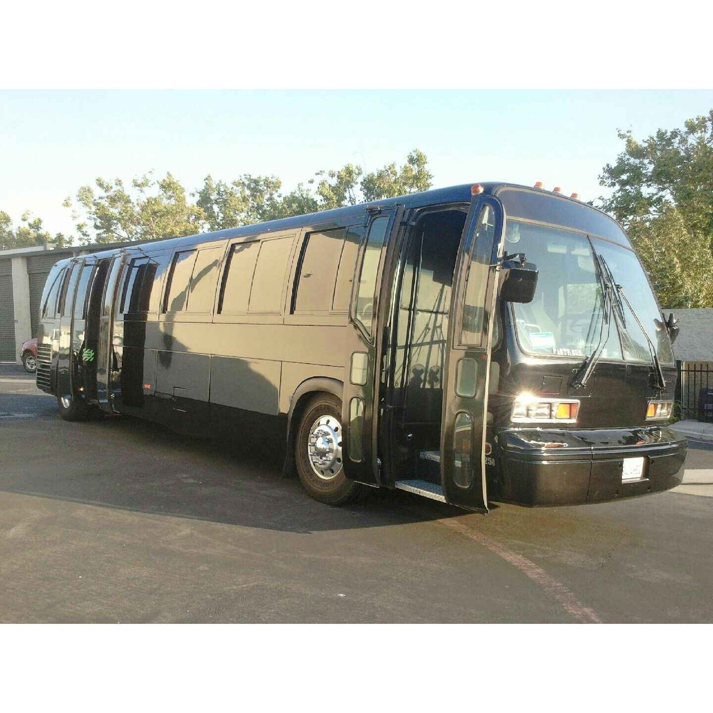 50 passenger party buses and 55 passenger party buses we