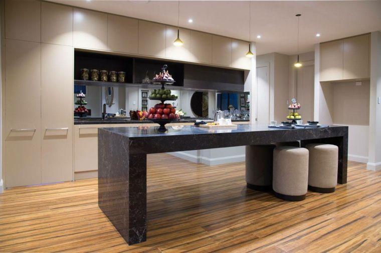 pavimento in parquet e un esempio di cucine classiche con isola in ...