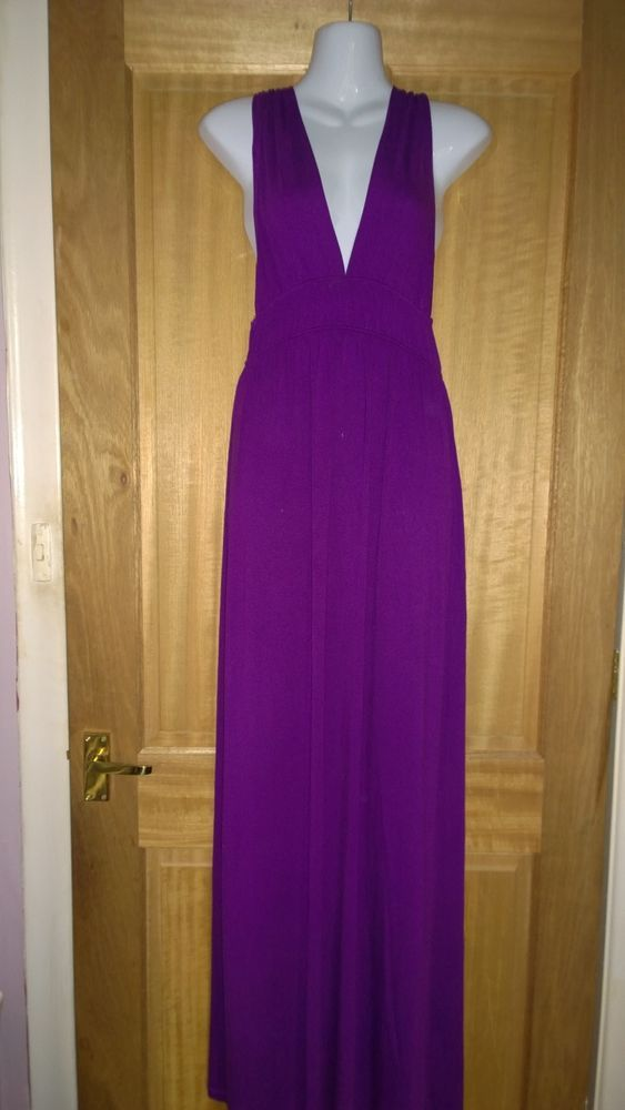 New Look gorgeous purple maxi dress. size 14 | Wedding outfits ...