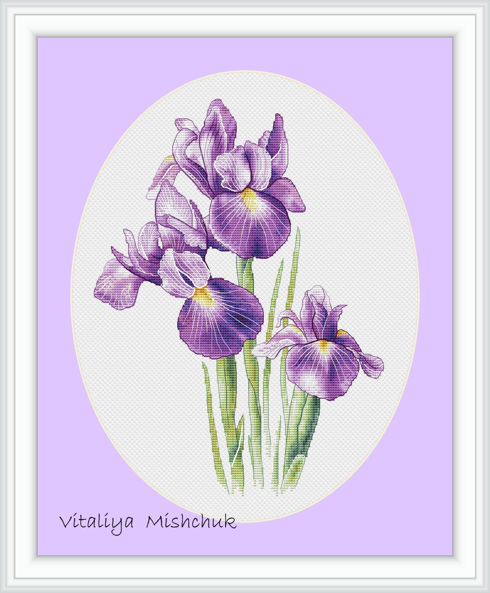 Flowers Irises Cross Stitch Patterns Floral Purle X Stitch Etsy Cross Stitch Flowers Embroidery Flowers Pattern Needlepoint Patterns