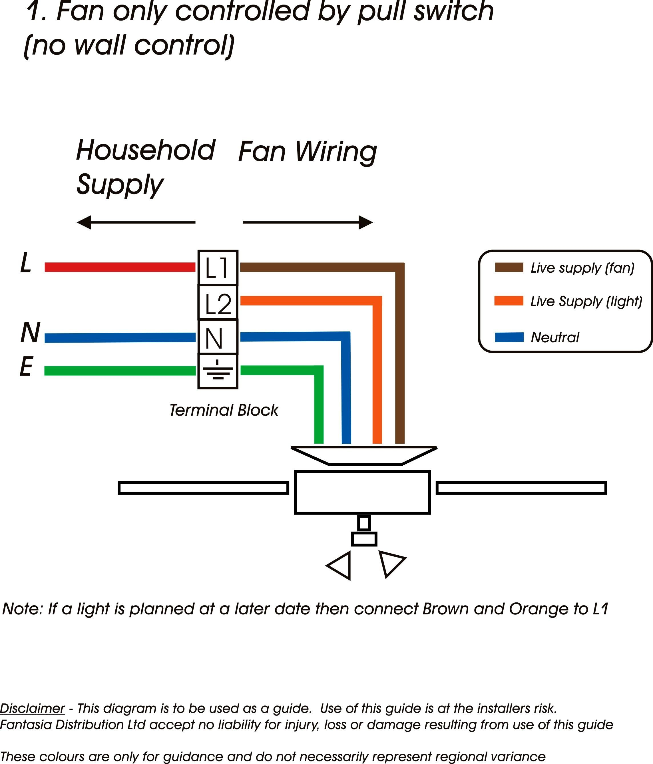 Hunter Ceiling Fan Wall Switch Wiring
