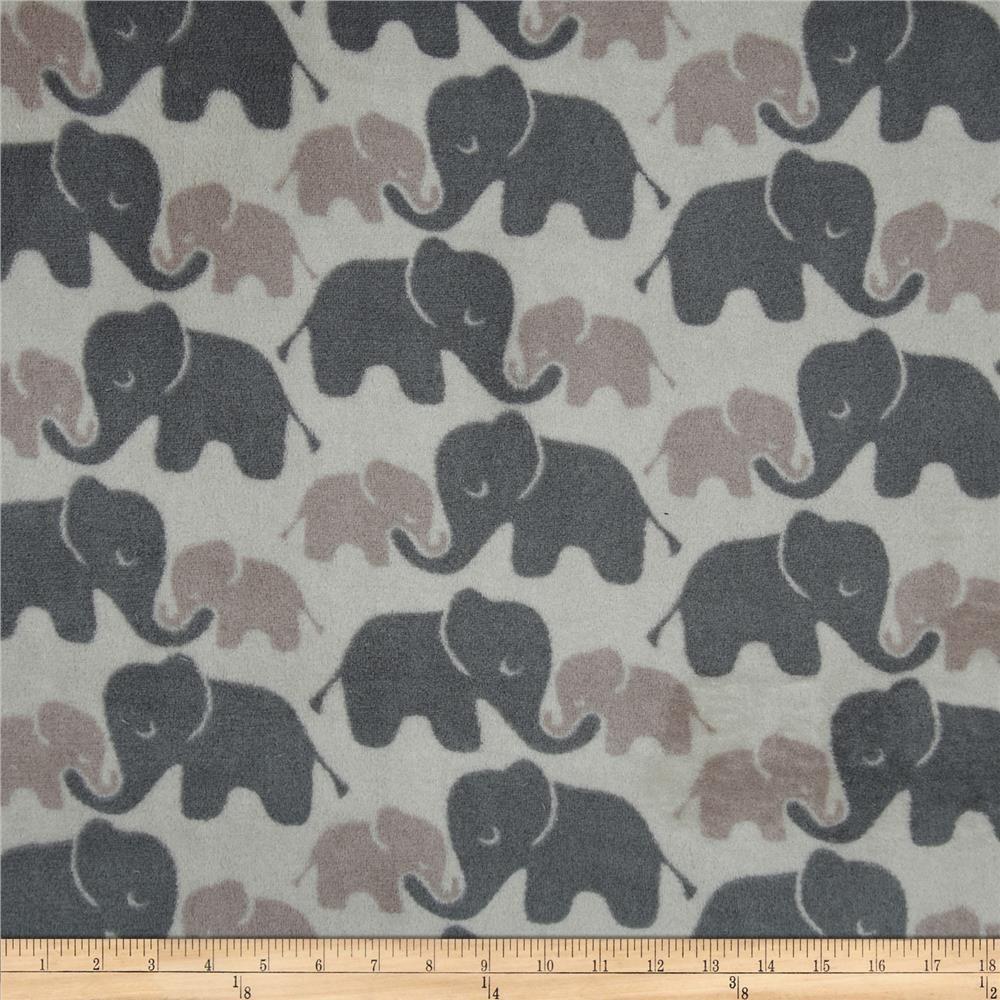 Cute Elephant Cotton Children Kid/'s Fabric Grey Gray Pink Cotton Fabric 12 yard