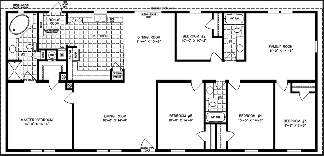 Winsome 5 Bedroom Modular Homes Floor Plans Creative And 5 Bedroom ...