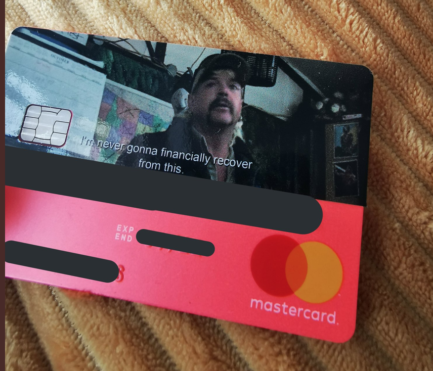 My new bank card came today which is inspired by Tiger