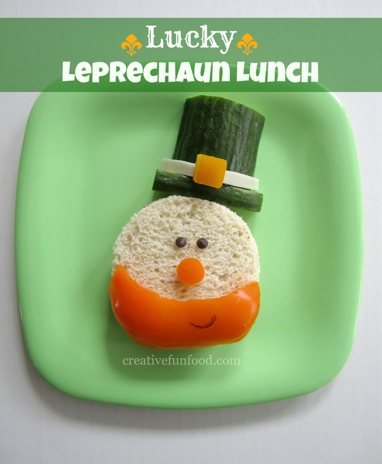 Leprechaun Food | Lucky Leprechaun Lunch creativefunfood.com