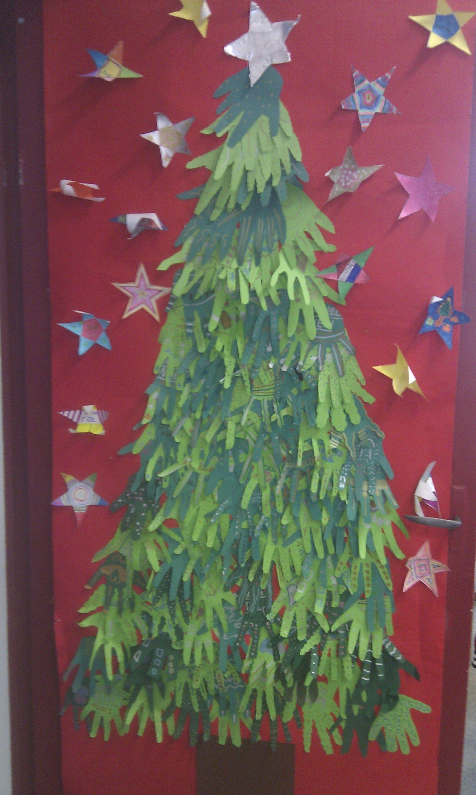 Ma porte de classe pour Noel! | Arts plastiques ...