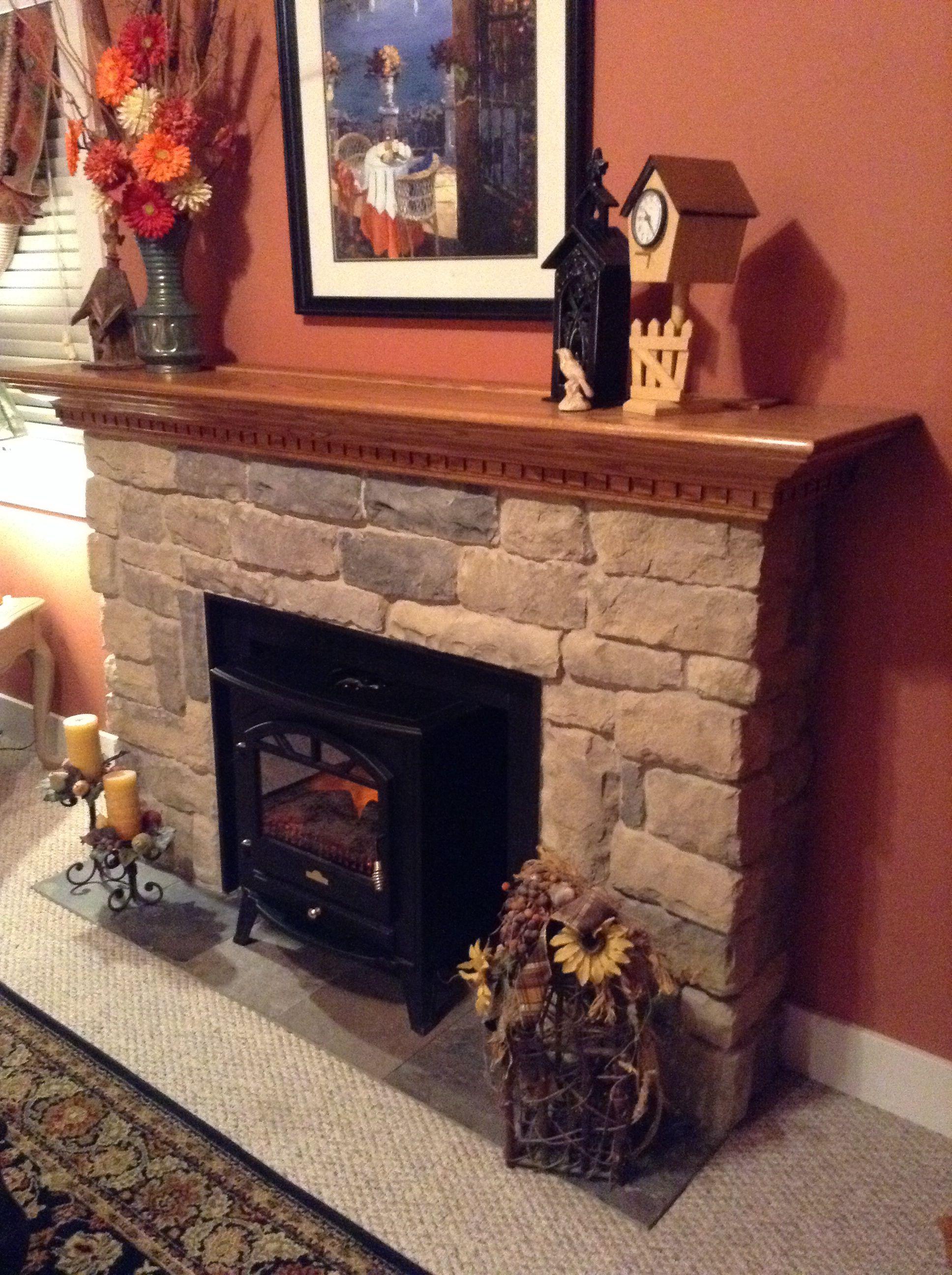Electric fireplace surround.... Craftsman fireplace