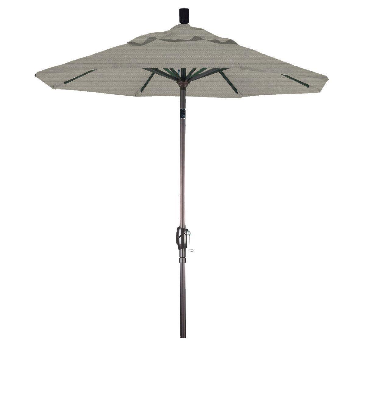 Eclipse Collection 6' Aluminum Market Umbrella Push Tilt Bronze/Sunbrella/Spectrum Dove