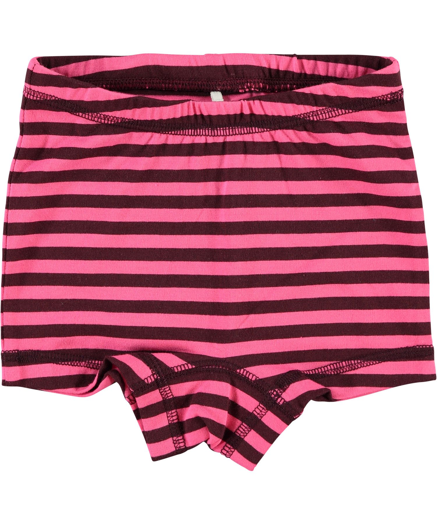 Name it plum striped hipster shorts for junior girls. name-it.en.emilea.be