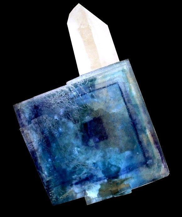 Fluorite with Quartz // Yao Gan Xian Mine, China