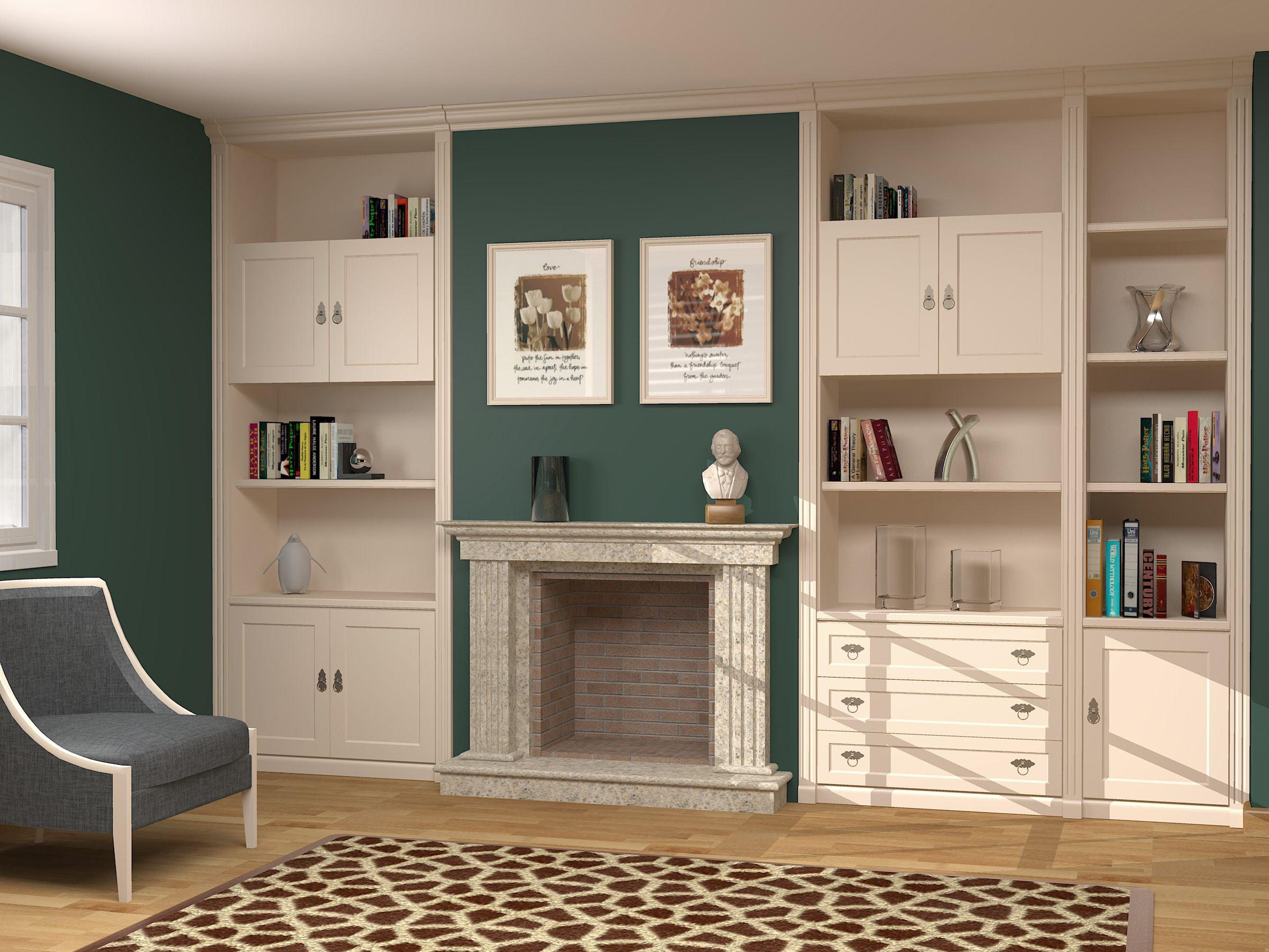 Muebles adaptados a chimenea completamente a medida, todo tipo de ...
