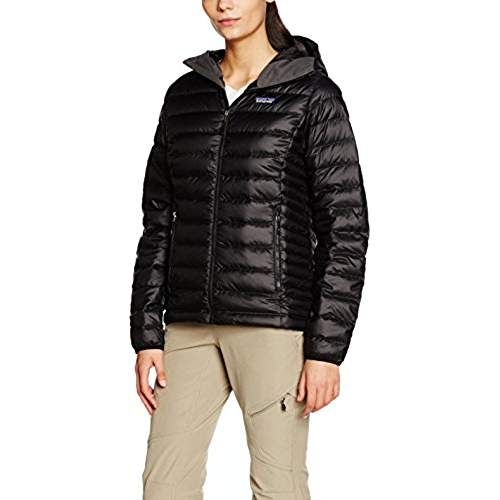 Patagonia Damen Jacke W'S Down Sweater Hoody, Black, M