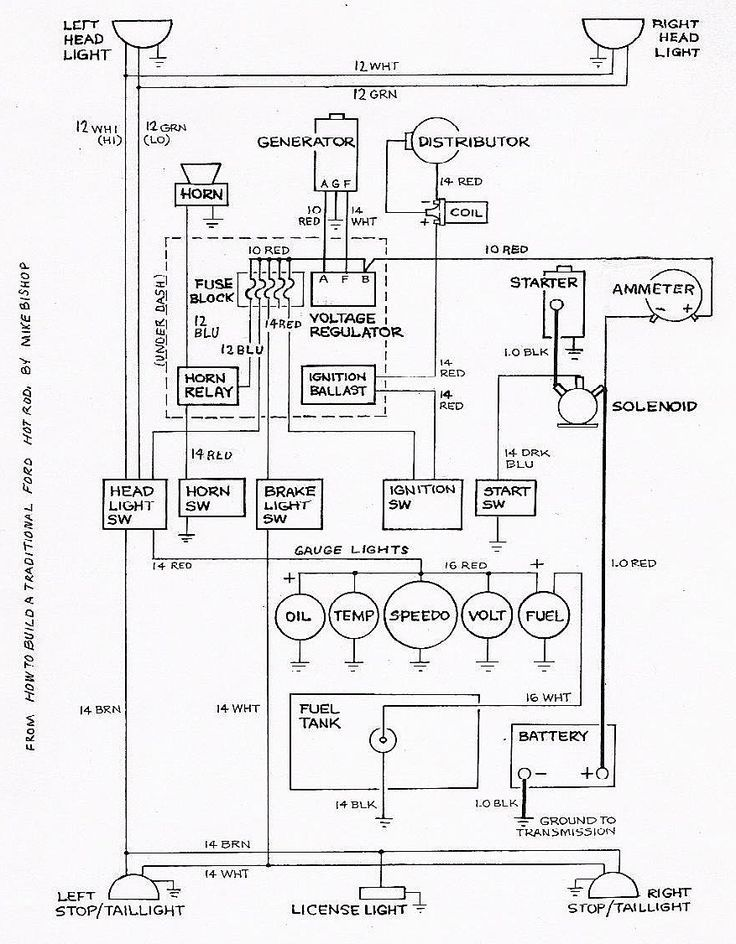 standard 10 car wiring diagram  google search  ford hot