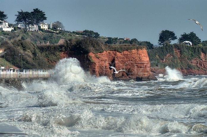 High Tide Preston Beach at Paignton