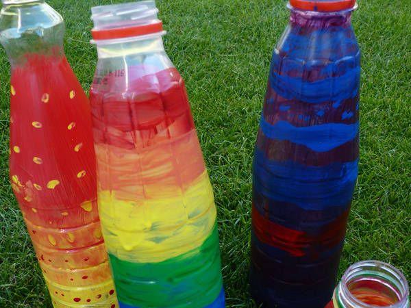 PET-Flaschen - Windspiel | KiWe | Bottle, Water bottle und ...