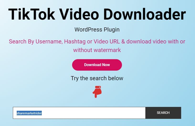 Tiktok Video Downloader Wordpress Plugin Wordpress Plugins Plugins Video