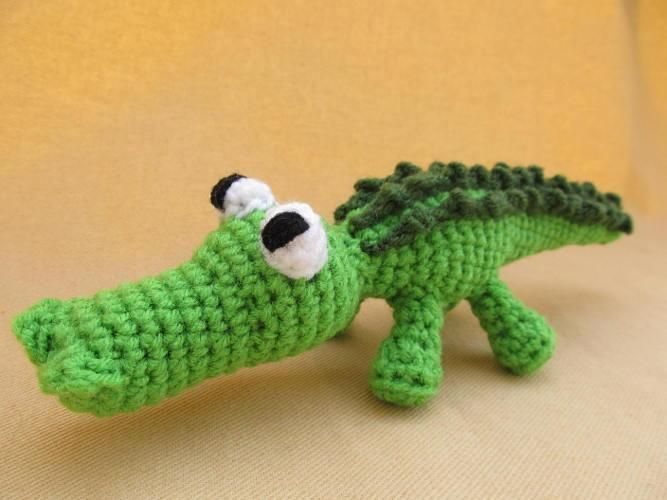 Ally Gator Amigurumi Crochet Alligator