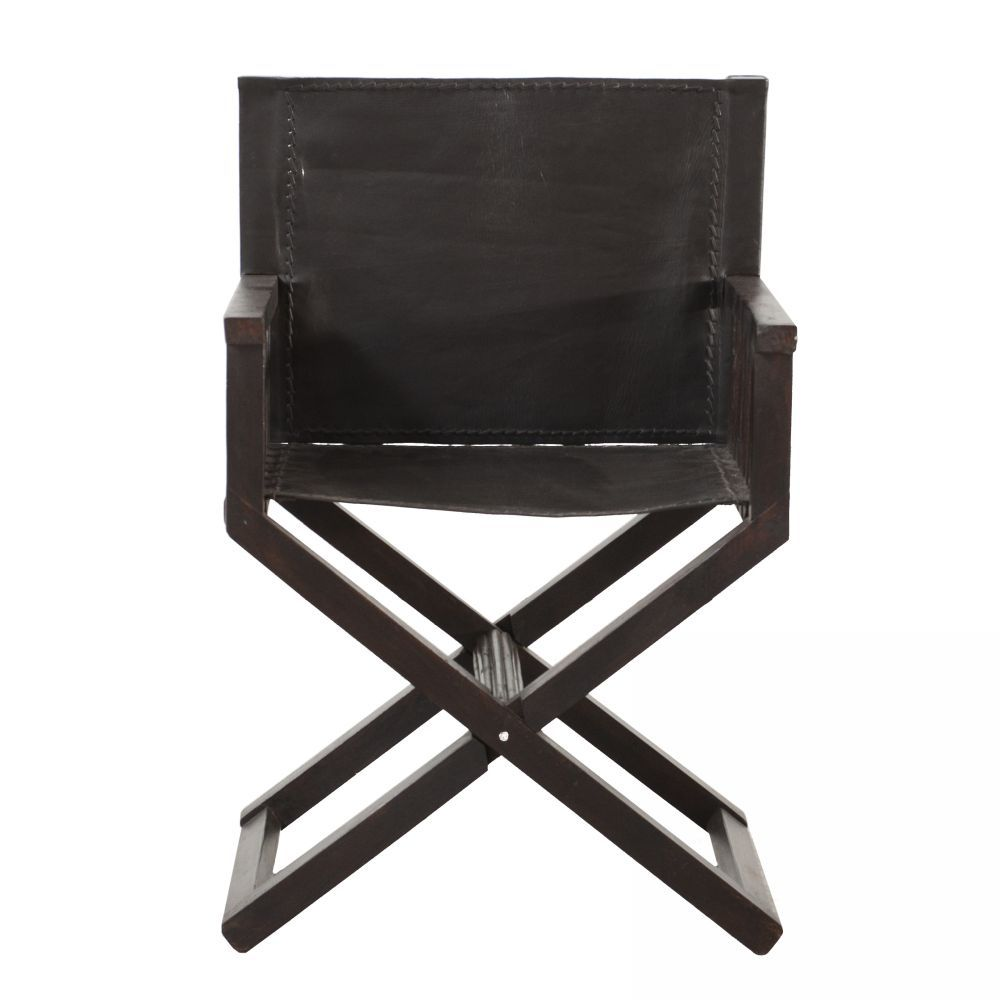 Charmant Wood And Leather Director Chair | I.O. Metro