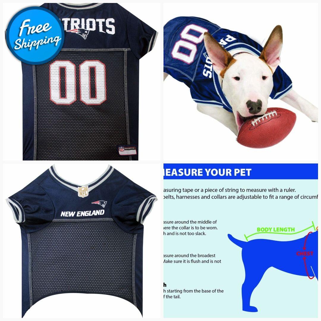 Nfl New England Patriots Dog Jersey Large Pet Cat Halloween