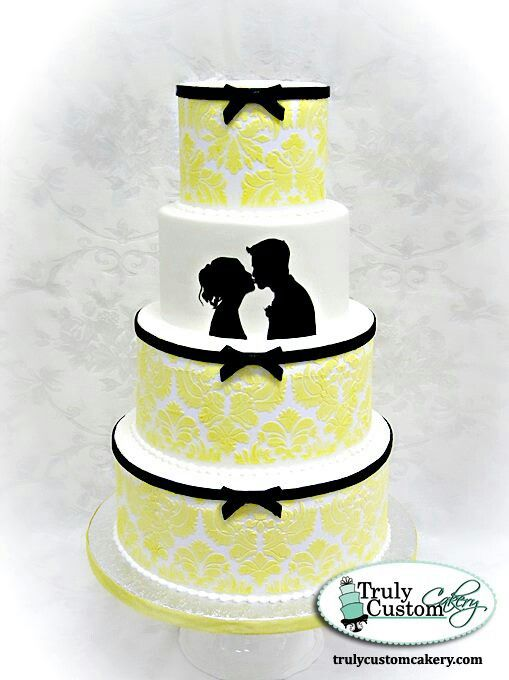 Silhouette wedding cake | Formal cakes | Pinterest | Wedding cake ...
