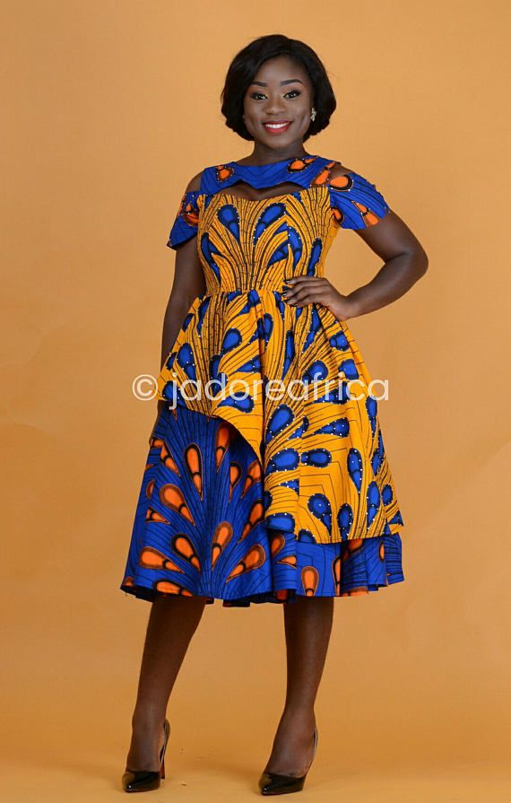 7003dc1e948ea African mixed print dress / African dresses / African midi dress / African  clothing / Ankara midi dr