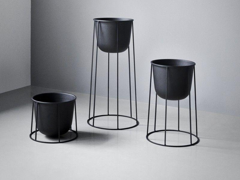 Menu Wire Plant Pot Black