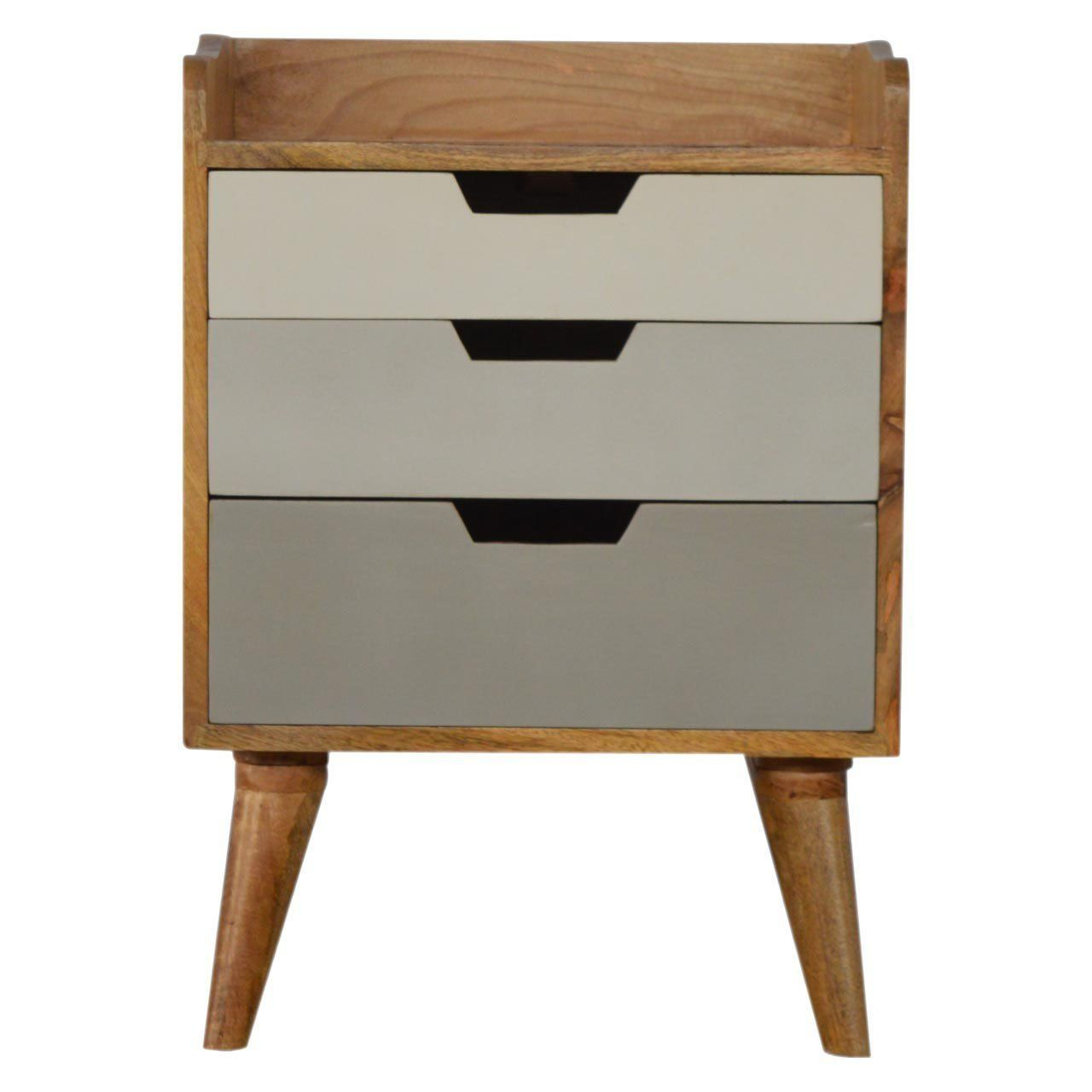 Best Mid Century Modern Style Solid Wood 3 Drawers Bedside 400 x 300