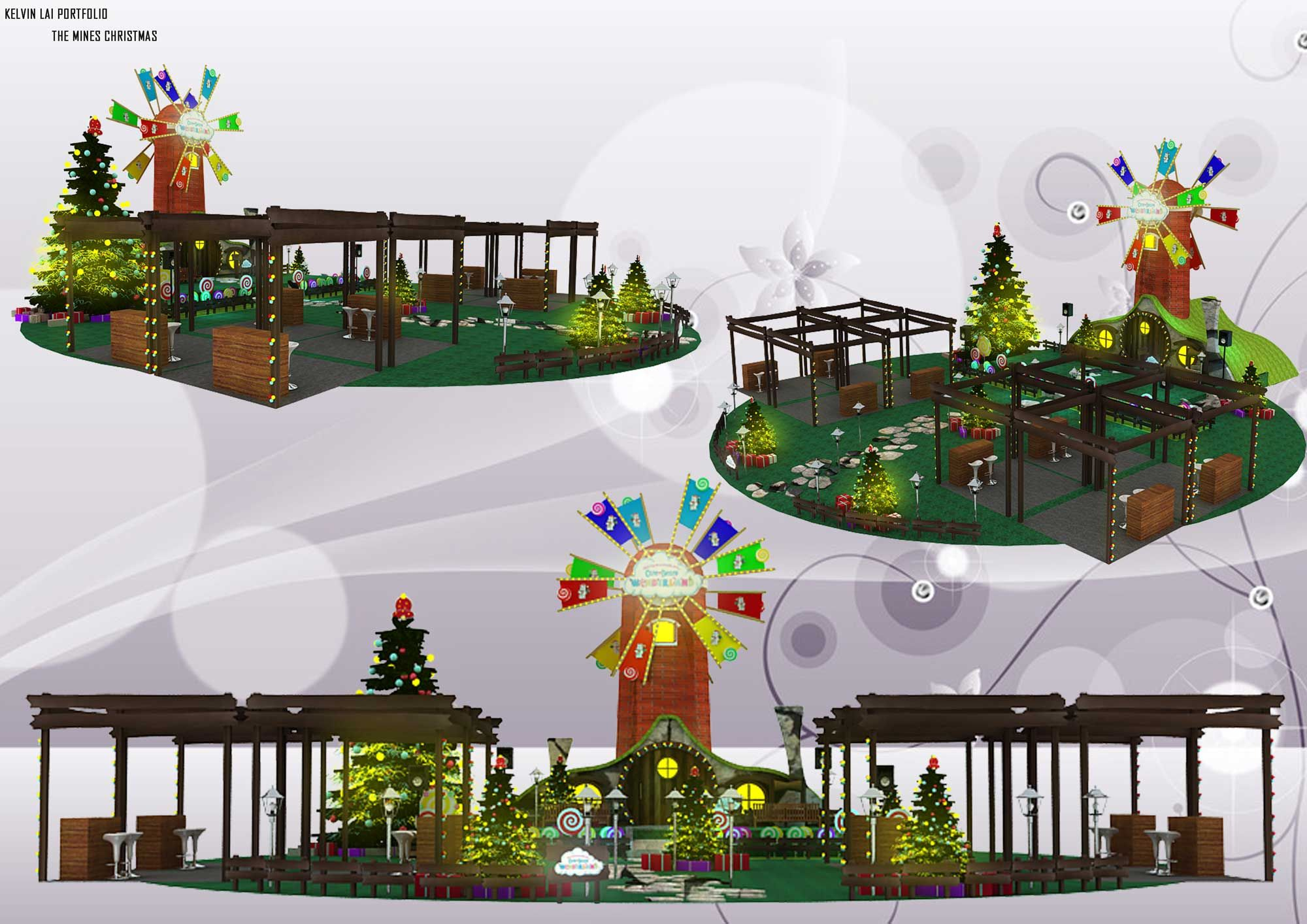 Propose Christmas Decoration For The Mines Shopping Mall Option 02