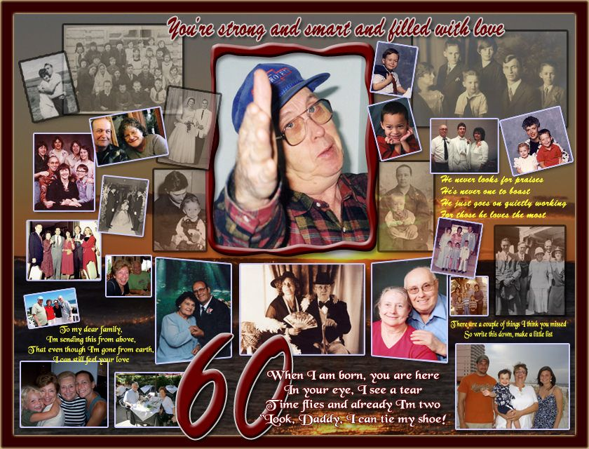 Find That Absolutely Perfect Gift For Husband Turning 60 This Year Create A Lifetime Memory Your Man With Top 30 Collage Design Ideas