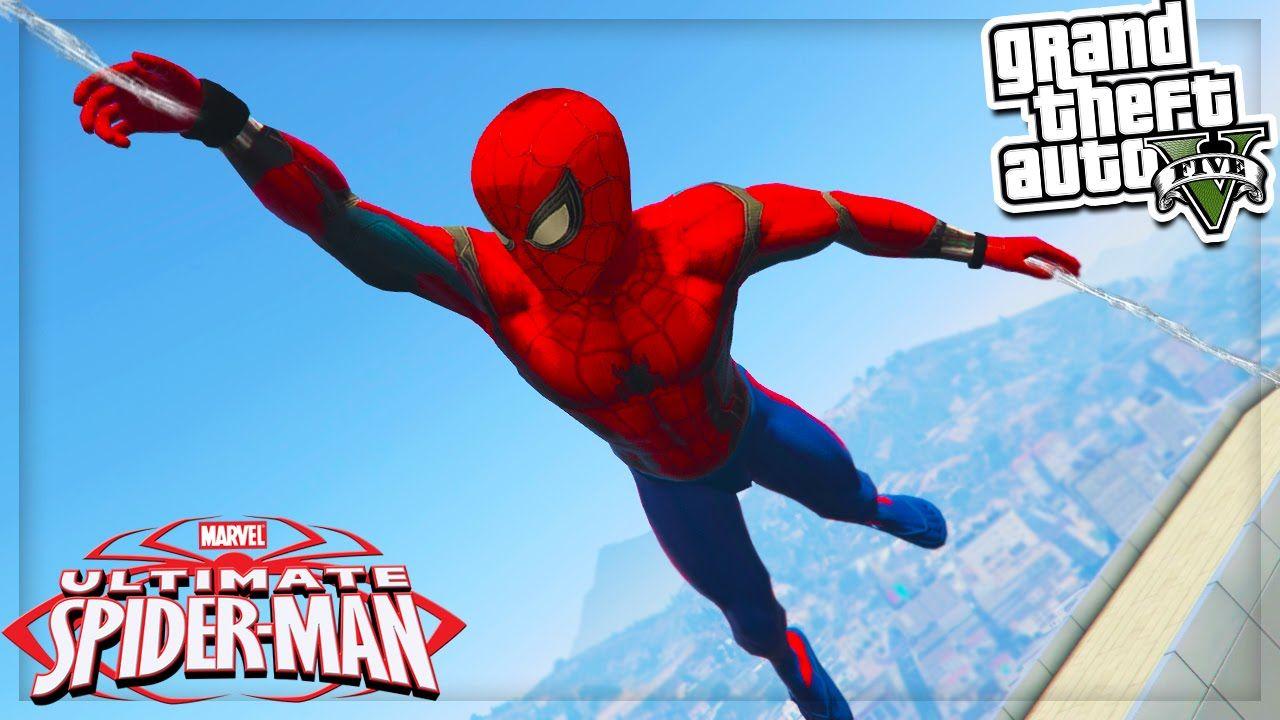 GTA 5 Mods: NEW Spiderman Mod - Web Shooter & More! GTA 5 Mods