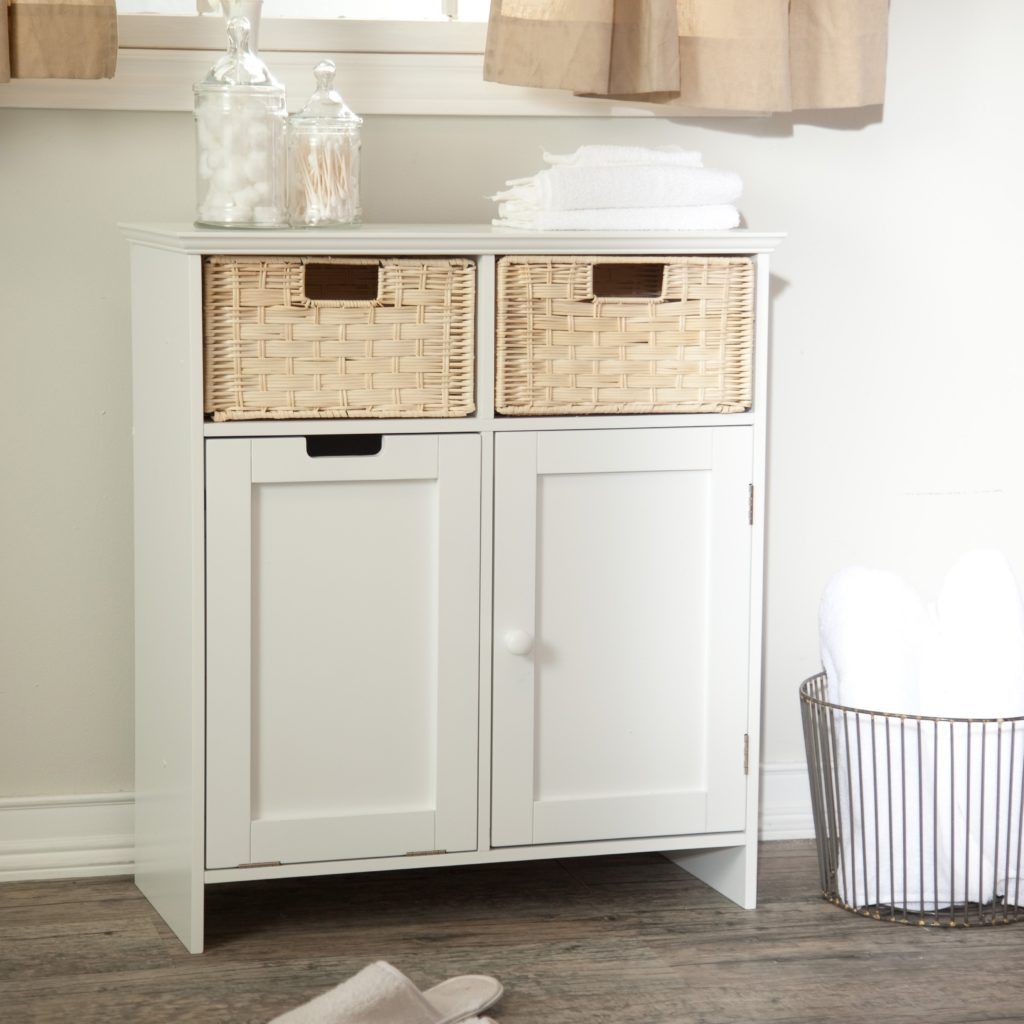 Bathroom Floor Cabinet With Baskets | Bathroom Cabinets | Pinterest ...