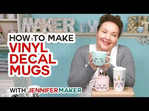 How to Put Vinyl on Mugs + Cute Designs & a Unicorn is part of Cricut, Cute diy projects, Diy vinyl, Mugs, Cricut tutorials, Cricut vinyl - Learn the RIGHT way to put vinyl on mugs, including how to pick out the best mug, design, and vinyl for results that look great and last! Today we're putting vinyl on mugs! I received MANY requests for this tutorial, and it's easy to see why  Personalized mugs are fun to have and give as   Read More »