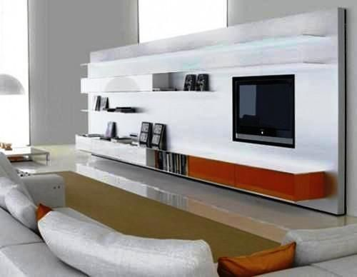 Wall Panel Design For LCD TV Placement In Living Room
