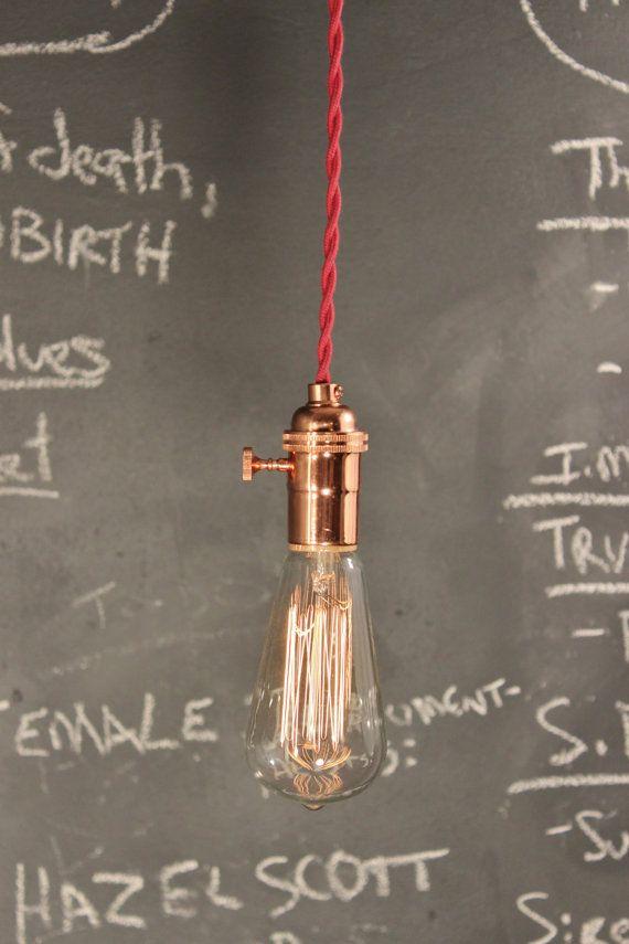 Vous aurez-jamais-Get-Me-cuivre ! Lampe à suspension - ampoule nue industriel Vintage