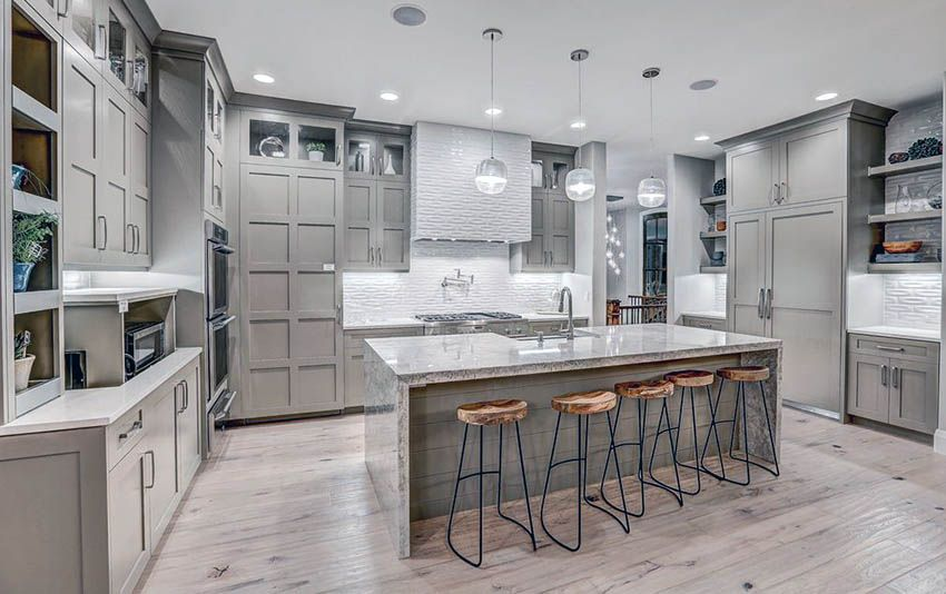 Gray Kitchen Cabinets Design Ideas Light Gray Cabinets Grey